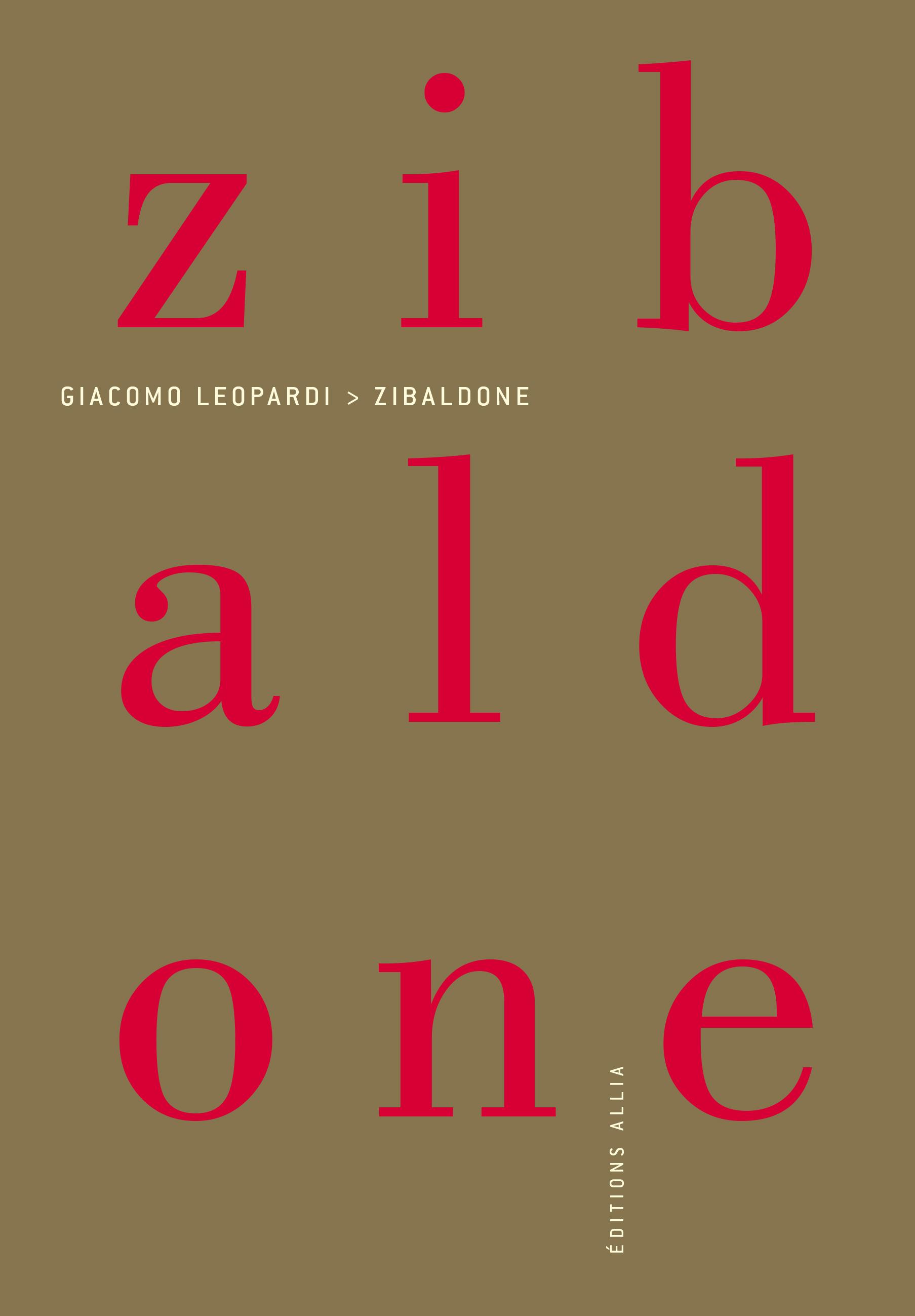 Editions Allia - Livre - Zibaldone